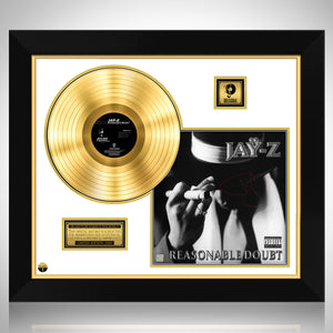 Jay-Z Reasonable Doubt Gold LP Limited Signature Edition Studio Licensed Custom Frame