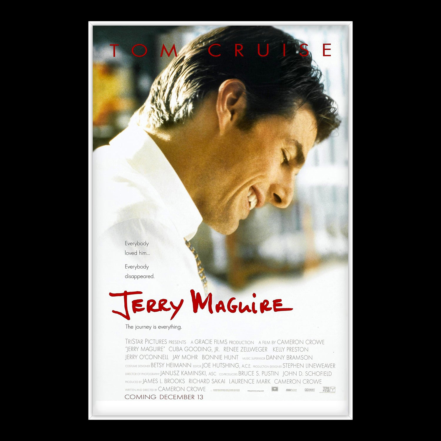 Jerry Maguire - Hand-Signed Script by Tom Cruise & Cuba Gooding Jr  Custom  frame