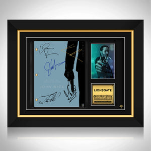 John Wick Script Limited Signature Edition Studio Licensed Custom Frame
