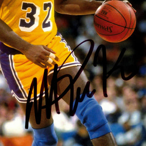 Los Angeles Lakers- Magic Johnson Hand-Signed Photo Custom Frame