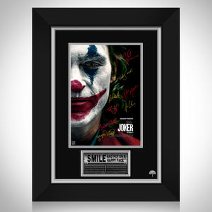 Joker- Limited Signature Edition Studio Licensed Movie Theatrical Release Poster Custom Frame