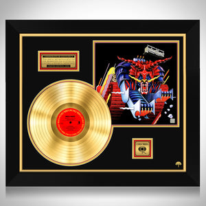 Judas Priest- Defenders of the Faith Limited Collectors Edition Studio Licensed Gold LP Custom Frame