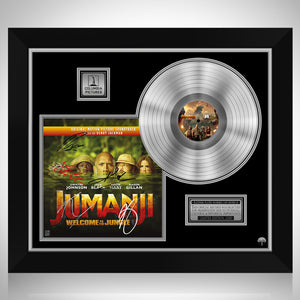Jumanji Welcome to the Jungle - Soundtrack Platinum LP Limited Signature Edition Studio Licensed Custom Frame