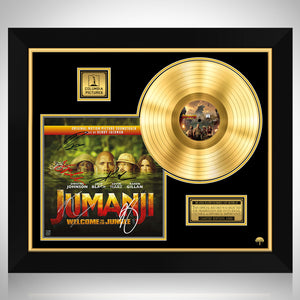 Jumanji Welcome to the Jungle - Soundtrack Gold LP Limited Signature Edition Studio Licensed Custom Frame