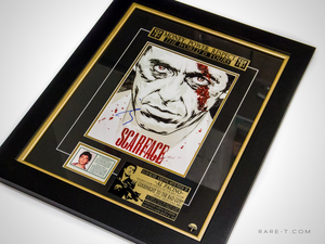 Scarface poster with green card Al Pacino hand signed photo gallery frame angled