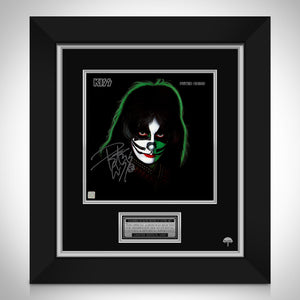 KISS - Peter CrissLimited Signature Edition Studio Licensed LP Cover Custom Frame