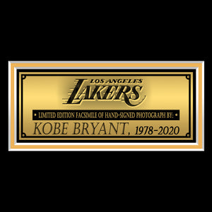 Kobe Bryant Los Angeles Lakers Slam Dunk Photo Limited Signature Edition Studio Licensed Custom Frame