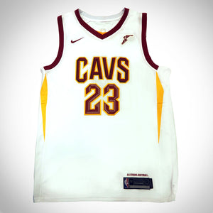 Lebron James- Cleveland Cavaliers  Hand-Signed White Jersey