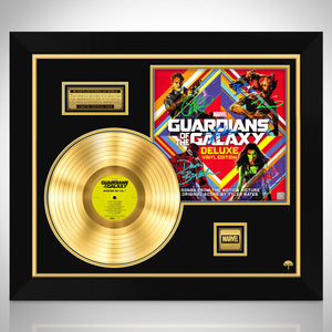 Guardians of the Galaxy Limited Signature Edition Studio Licensed Gold LP Custom Frame