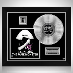 Lady Gaga The Fame Monster Limited Signature Edition Studio Licensed Platinum LP Custom Frame