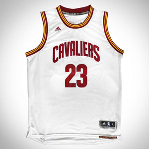 Lebron James 'Cleveland Cavaliers' Team Hand-Signed Lebron James White Jersey Custom Frame
