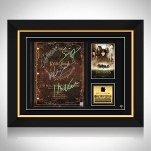 The Lord Of The Rings Fellowship Script Limited Signature Edition Studio Licensed Custom Frame