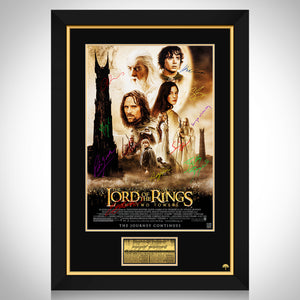 Lord Of The Rings - The Two Towers Limited Signature Edition Studio Licensed Movie Mini Poster Custom Frame