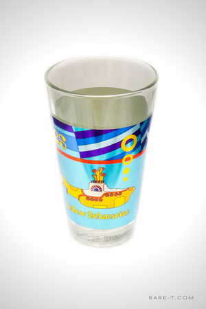 'BEATLES-YELLOW SUBMARINE-BLUE' Pint Glass