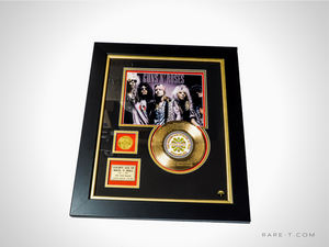 RARE-T Exclusive Limited Edition GOLD 45 'GUNS N' ROSES - WELCOME TO THE JUNGLE LYRICS' Custom Frame