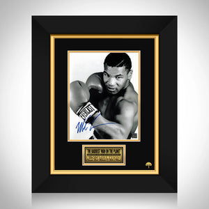 Mike Tyson Limited Signature Edition Studio Licensed Photo Custom Frame