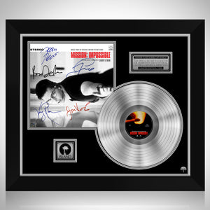 Mission Impossible - Soundtrack Platinum LP Limited Signature Edition Studio Licensed Custom Custom Frame