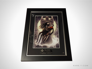 RARE-T Exclusive 'NIGHTMARE BEFORE CHRISTMAS PRINT - SIGNED BY NATHAN SZERDY' Custom Frame