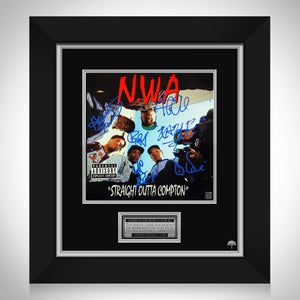 N.W.A. - Straight Outta Compton LP Cover Limited Signature Edition Studio Licensed Custom Frame