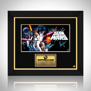 Star Wars A New Hope Mini Poster Limited Signature Edition Studio Licensed Custom Frame