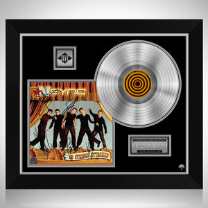 NSYNC - No Strings Attached Platinum LP Limited Signature Edition Studio Licensed Custom Frame