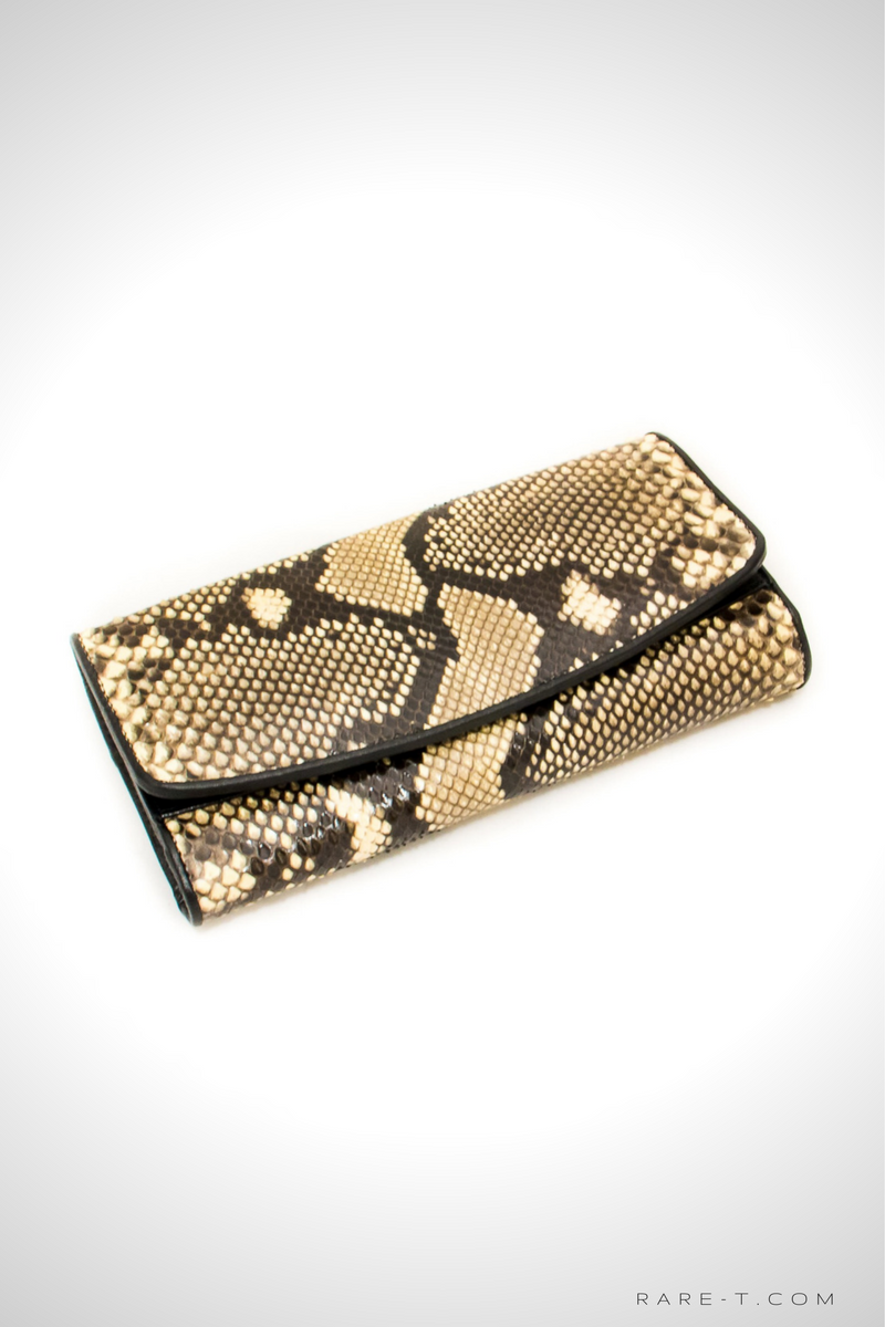 Authentic 'PYTHON-SNAKE SKIN' Woman Clutch