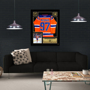 Connor Mcdavid- Hand-Signed Edmonton Oilers Jersey Custom Frame