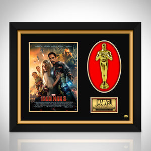 Iron Man 3 Limited Edition Studio Licensed 24k Gold Plated Oscar Custom Frame (A)