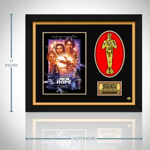 Star Wars- 'A New Hope' Limited Edition Licensed 24k Gold Plated Oscar Custom Frame (B)