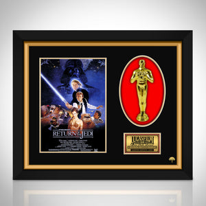 Star Wars Return of the Jedi Limited Edition Licensed 24k Gold Plated Oscar Custom Frame