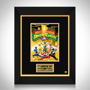 Mighty Morphin Power Rangers Limited Signature Edition Studio Licensed Movie Mini Poster Custom Frame