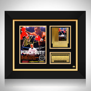 Punch Out!! Nintendo Entertainment System Gold Cartridge & Box Cover Art Custom Frame
