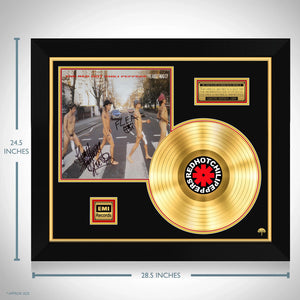 The Red Hot Chili Peppers The Abbey Road E.P. Limited Signature Edition Studio Licensed Gold LP Custom Frame