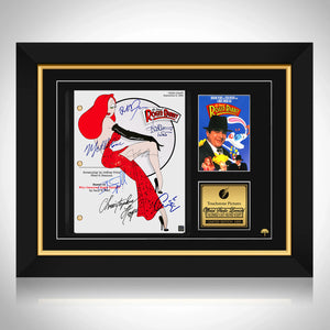Roger Rabbit Script Limited Signature Edition Studio Licensed Custom Frame