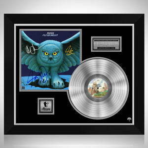 Rush - Fly By Night Platinum LP Limited Signature Edition Studio Licensed Custom Frame