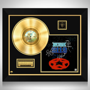 Rush 2112 Gold LP Limited Signature Edition Studio Licensed Custom Frame