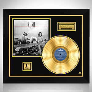 Rush Permanent Waves Neil Peart- Limited Signature Edition Studio Licensed Gold LP Custom Frame