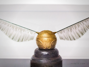 Harry Potter 'HAND-PAINTED GOLDEN SNITCH' Museum Display