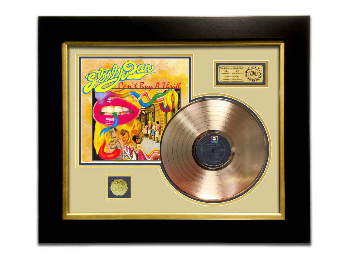 LIMITED EDITION GOLD LP 'STEELY DAN - CAN'T BUY A THRILL' CUSTOM FRAME