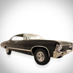 Supernatural - Impala W/ Sam & Dean Die Cast Car Custom Display