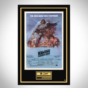 Star Wars- 'The Empire Strikes Back' Beckett Certified Cast Hand-Signed Original Vintage Poster Custom Frame