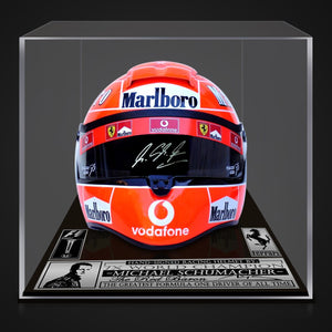 Michael Schumacher- Hand-Signed 2004 Ferrari F1 Full Size Helmet Custom Museum Display