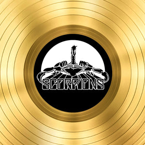 The Scorpions - 'Love At First Sting' Limited Collectors' Edition Studio Licensed Gold Lp Custom Frame