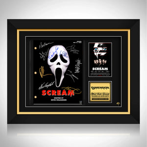 Scream Movie Script Limited Signature Edition Studio Licensed Custom Frame