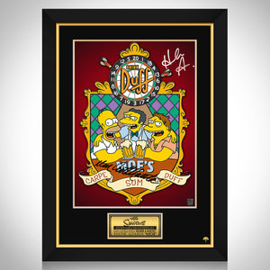 The Simpsons Moe's Promotional Art Limited Signature Edition Studio Licensed Mini Poster Custom Frame