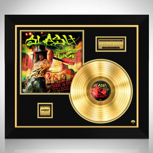 Slash Live Limited Signature Edition Licensed Gold LP Custom Frame