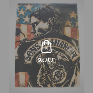 Rare-T Exclusive 'Jax-Sons Of Anarchy' Painting