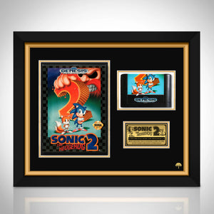 Sonic the Hedgehog 2 - RARE-T Exclusive Vintage Sega Genesis Game Cartridge & Case Custom Frame