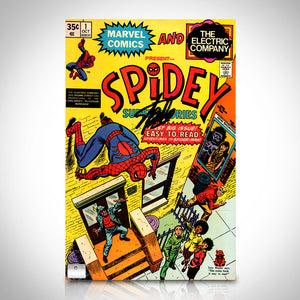 Spidey Super Stories (1974) #1 Hand-Signed Comic Book By Stan Lee Custom Frame