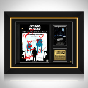 Star Wars The Empire Strikes Back Script Limited Signature Edition Studio Licensed Custom Frame